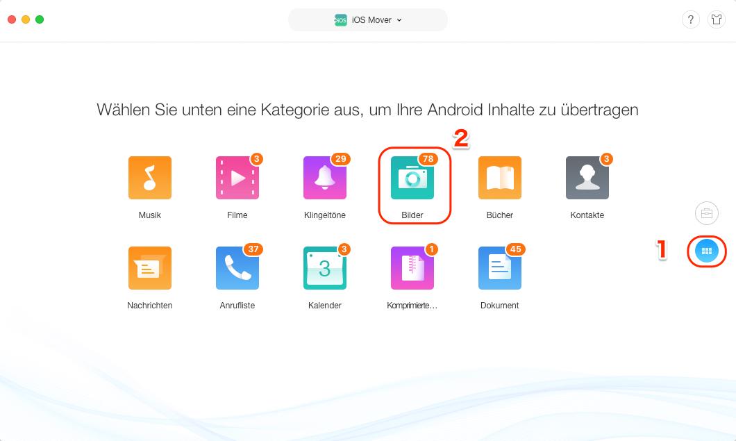 Bilder von Android auf iPad Pro übertragen - Schritt 2