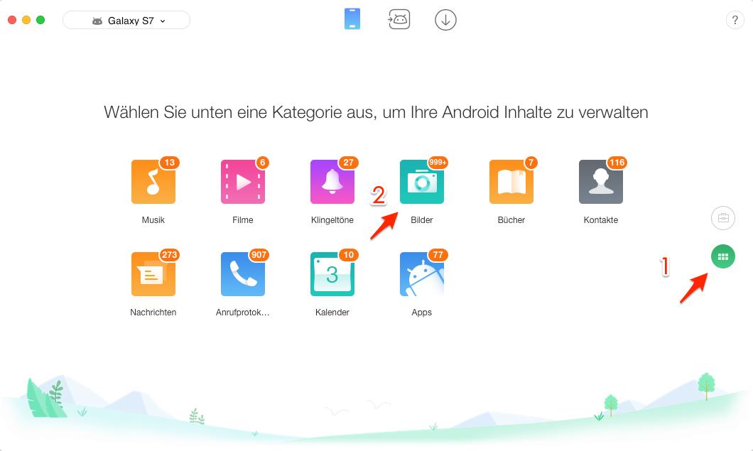 Fotos von Android auf Mac übertragen – Schritt 2