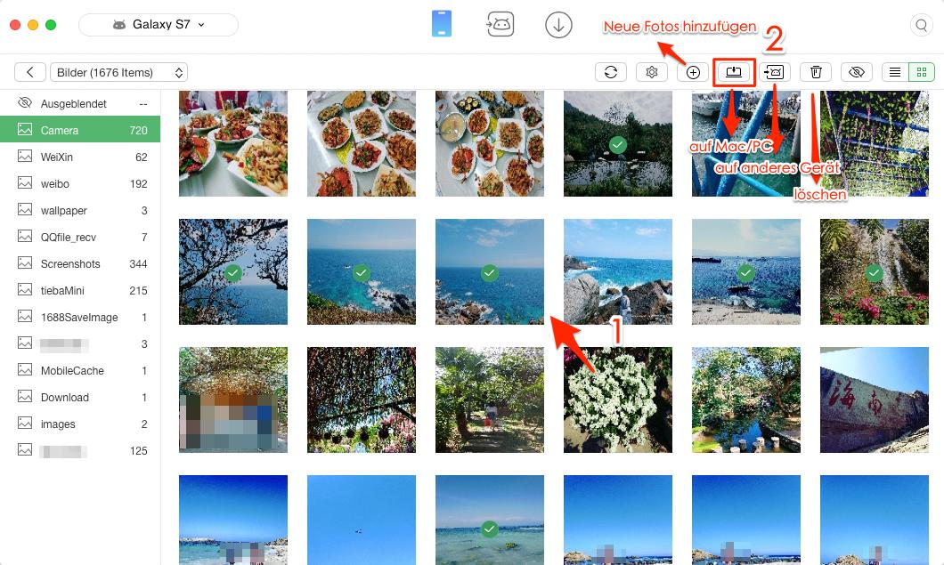 Android Fotos auf Mac übertragen – Schritt 3