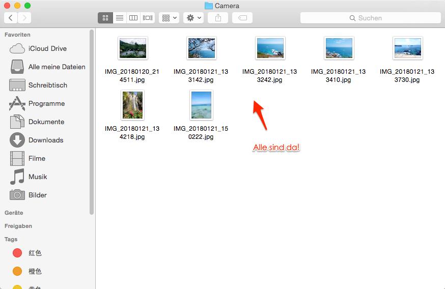 Android Fotos erfolgreich auf den Mac übertragen