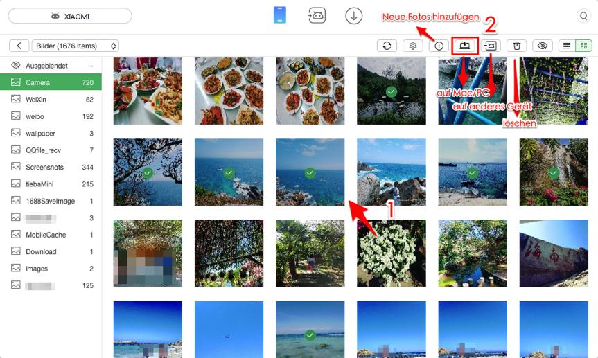 Bilder von Android auf PC – Fotos auswählen