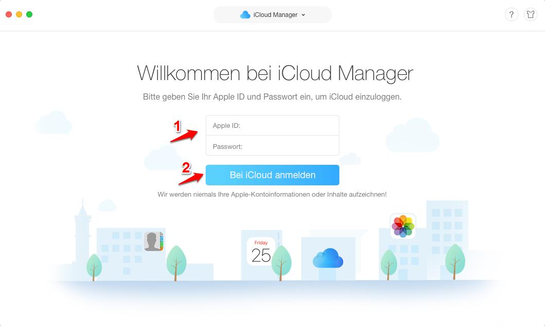 Fotos von iCloud auf Mac – Schritt 2