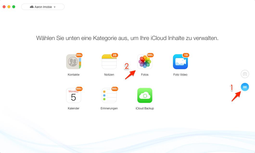 Fotos von iCloud auf Mac speichern – Schritt 3