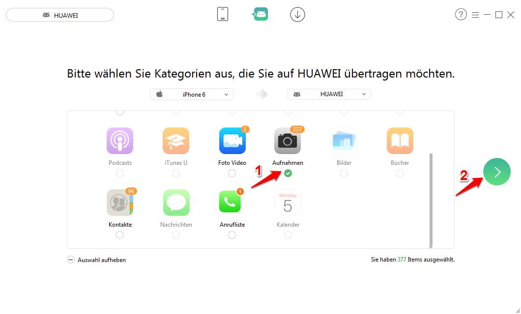 Bilder von iPhone auf Android – Schritt 2