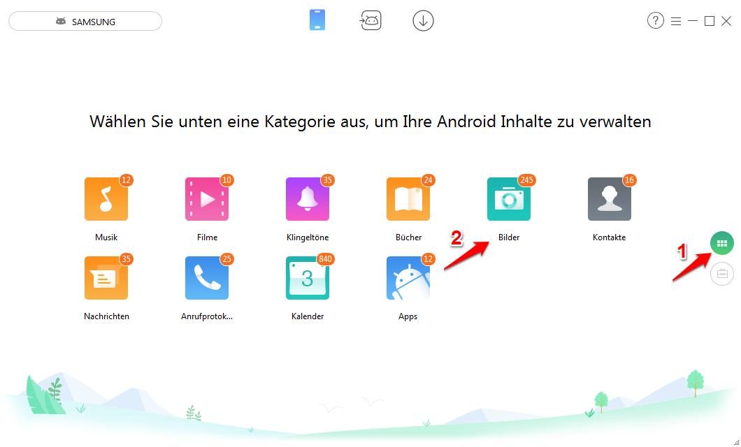 Teiweise Samsung Fotos auf PC – Schritt1