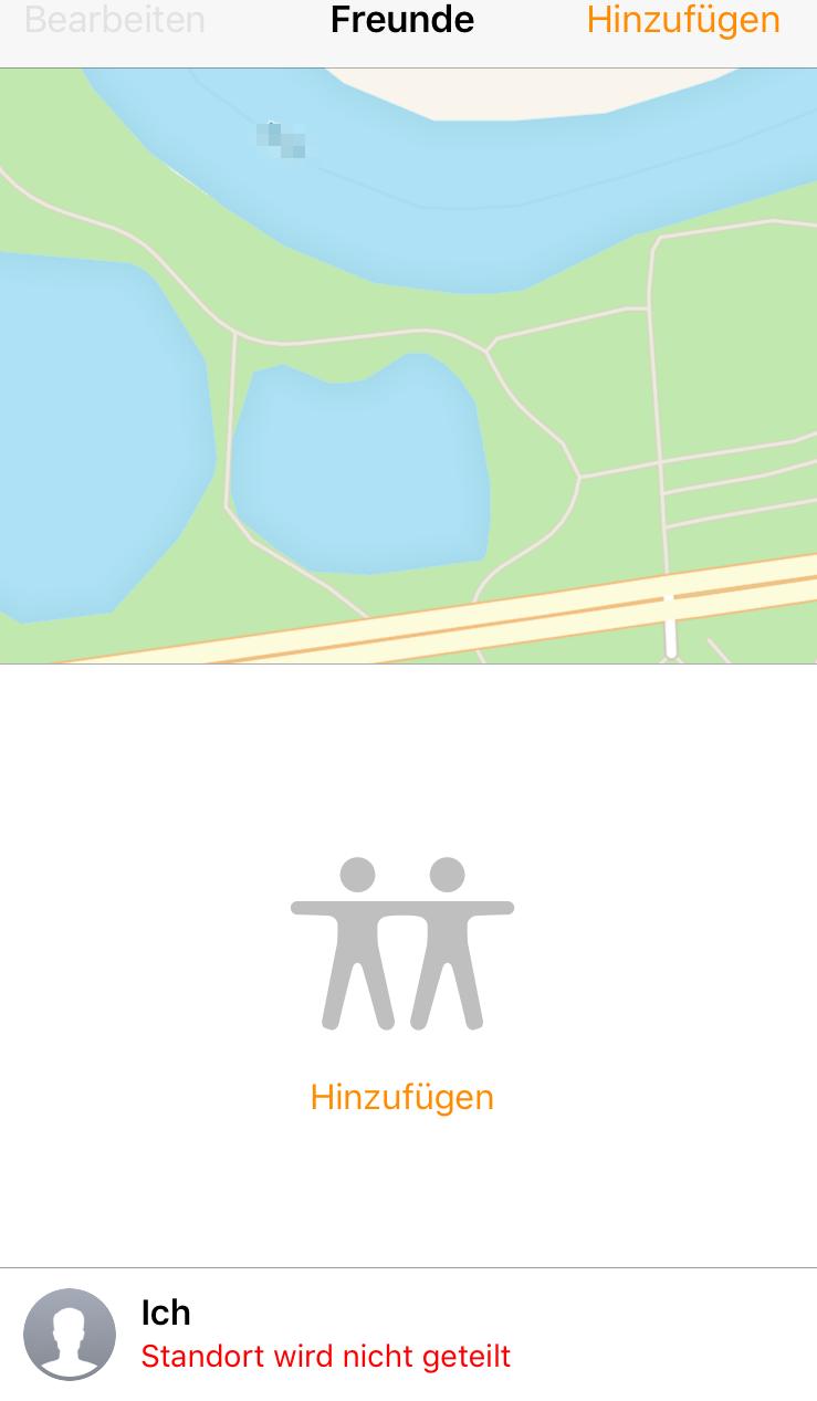 Freunde App vom iPhone funktioniert nicht