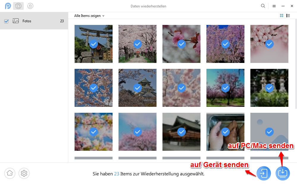 Fotos wiederherstellen Galaxy S6 - Schritt 3