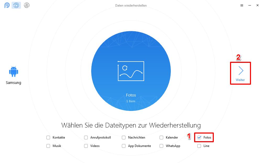 Gelöschte Bilder wiederherstellen Samsung Galaxy S7/8/9