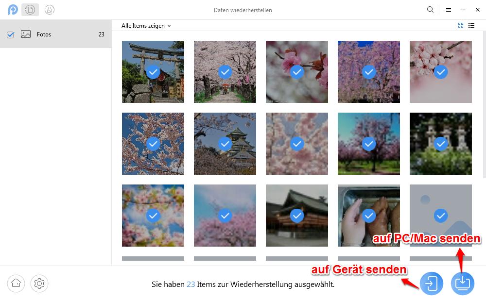 Wie kann man gelöschte Bilder wiederherstellen Samsung Galaxy S7/8/9