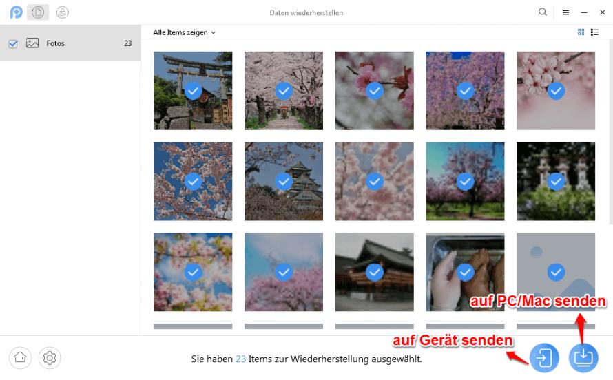 Gelöschte Bilder wiederherstellen Samsung Galaxy S7