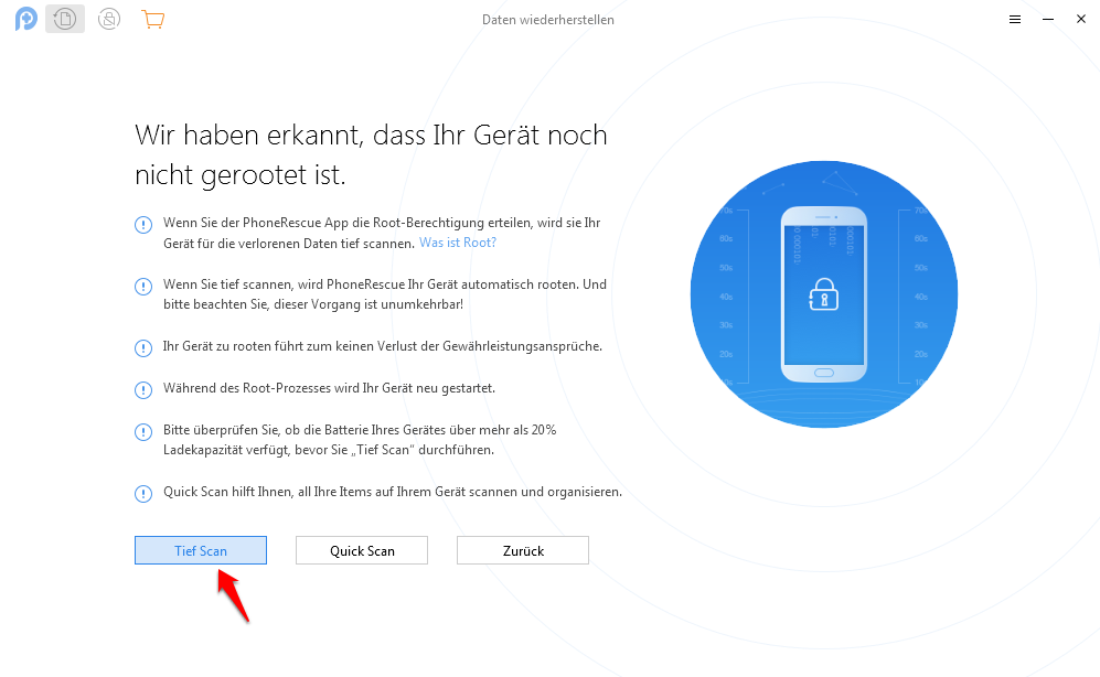 Gelöschte Dateien von Android wiederherstellen - Schritt 4