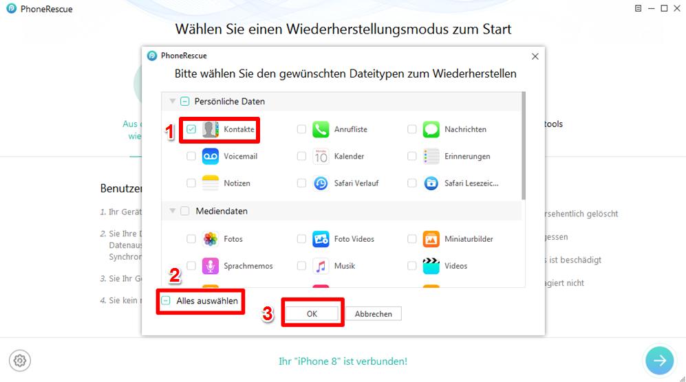 iphone backup kontakte wiederherstellen