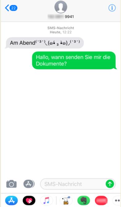 SMS wiederherstellen iPhone X/8 – Schritt 4
