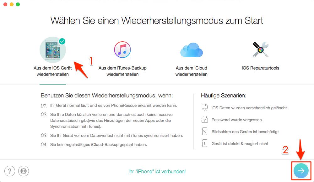 Gelöschte SMS wiederherstellen ohne PC - direkt aus iOS-Gerät retten