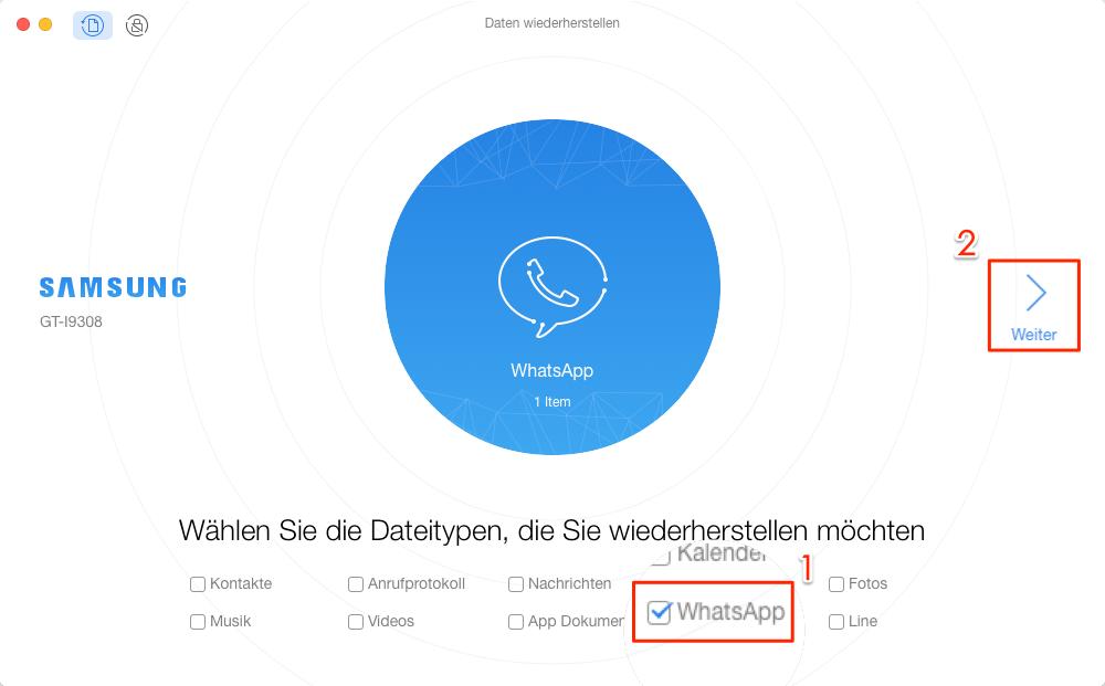 Die Option – WhatsApp aktivieren – Schritt 3