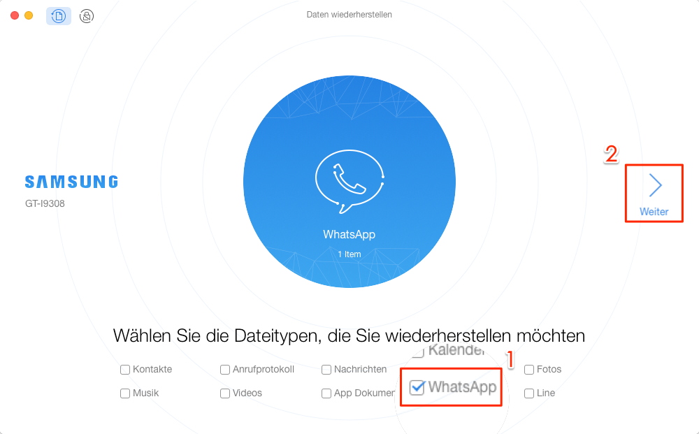 WhatsApp gelöschte Nachrichten wiederherstellen Samsung – WhatsApp scannen