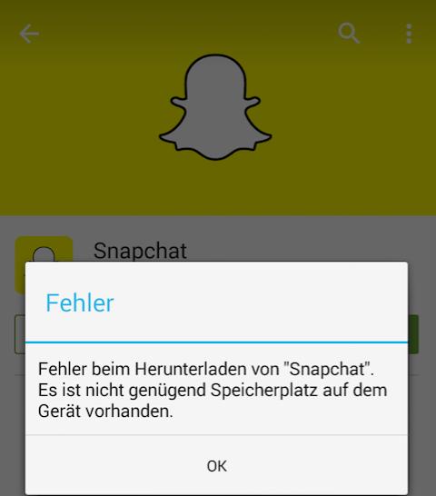 iOS 10/10.3.2 Probleme: nicht genügend Speicherplatz