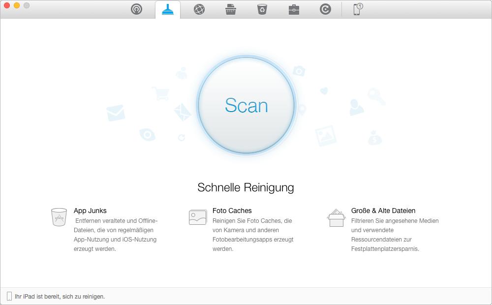 Junk-Dateien vom iPhone/iPad mit PhoneClean löschen