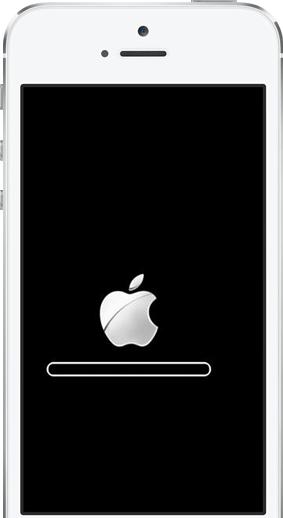 Problem von iOS 8 - auf Apple Logo stecken