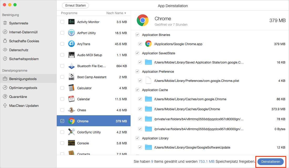 Google Chrome vom Mac deinstallieren - Schritt 2