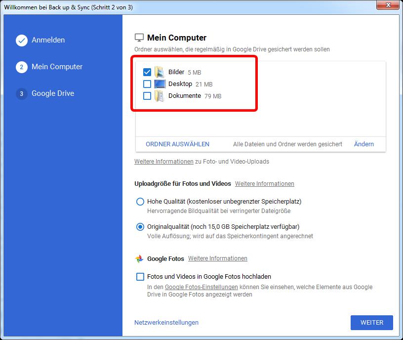 google-drive-ordner-waelen