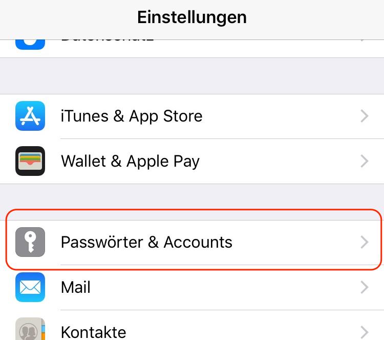 Google Kalender auf iPhone anzeigen - Schritt 1