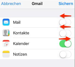 Google Kalender auf iPhone synchronisieren - Schritt 4
