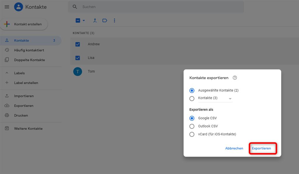google-kontakte-einstellung