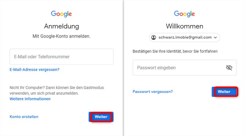 google-konto-anmeldung