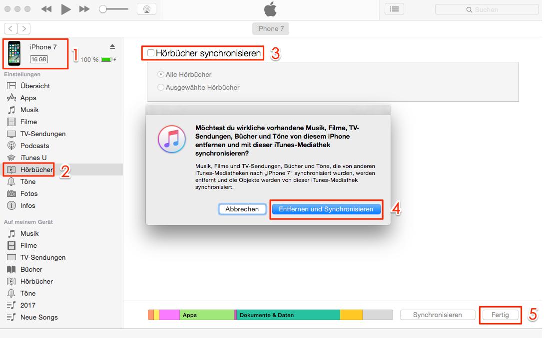 Hörbücher auf iPhone übertragen – über iTunes