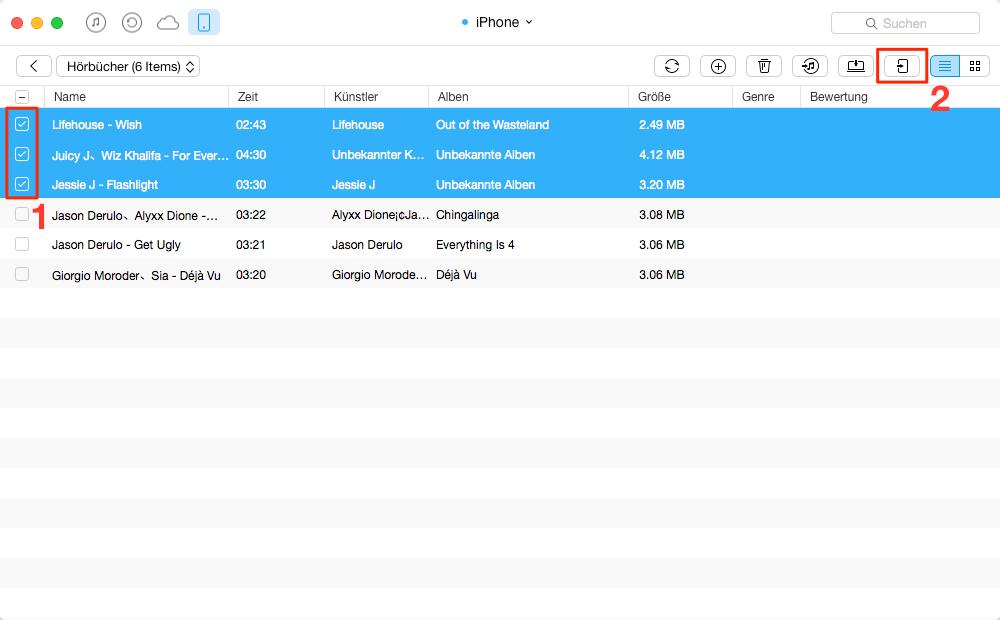 Direkt: iPhone Hörbücher auf iPod übertragen – Schritt 2