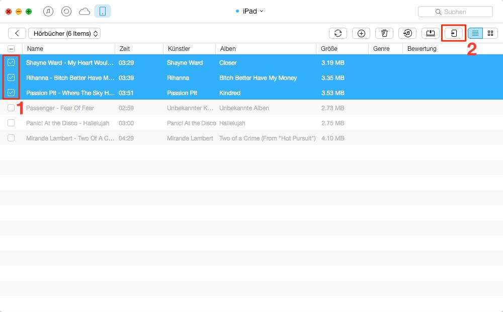 Einfach! Hörbuch vom iPad auf iPhone übertragen – Schritt 3