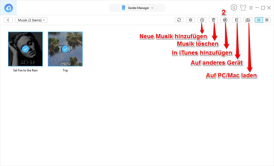 Musik zu iTunes importieren – in iTunes überprüfen
