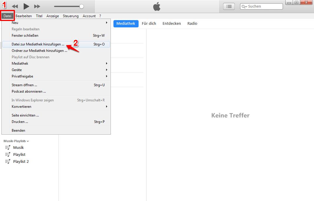 iTunes Musik hinzufügen – MP3 in iTunes importieren