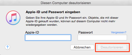 Apple-ID und Passwort eingeben - Schritt 2