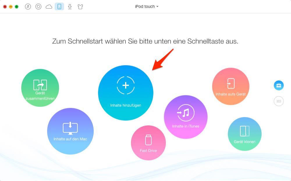 iPod Musik hinzufügen – Schritt 1