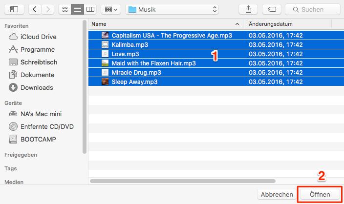 Musik auf iPod übertragen – Schritt 2
