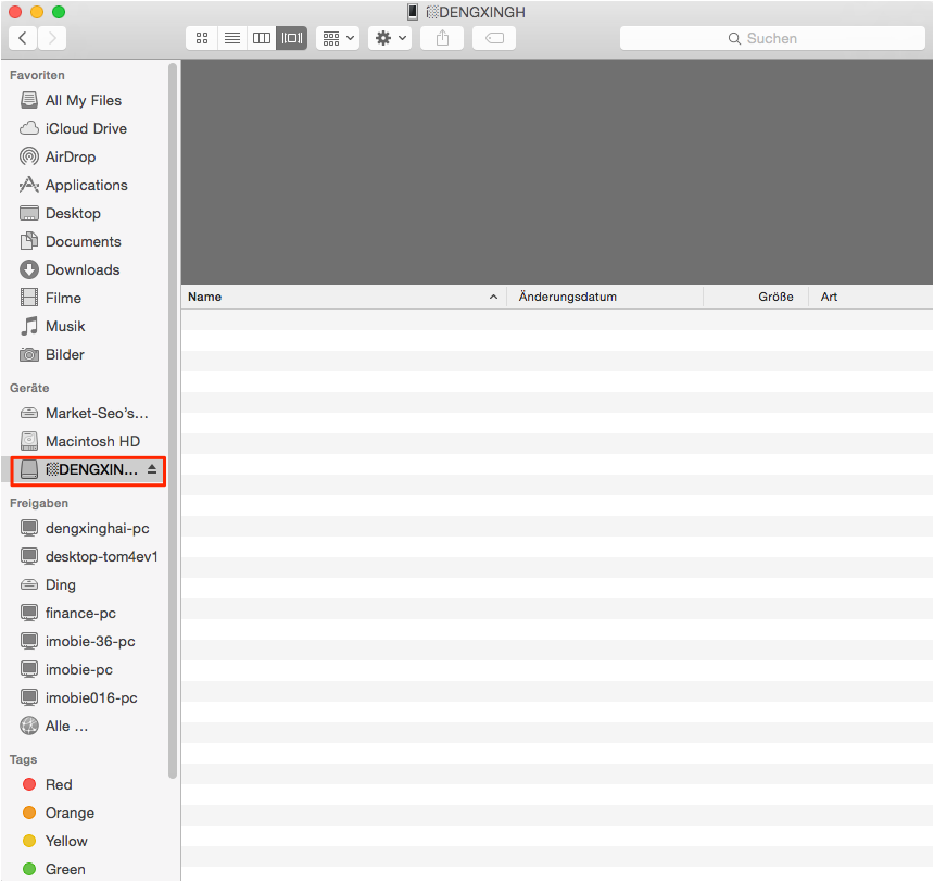 iPod als Volume in iTunes aktualisieren – Schritt3