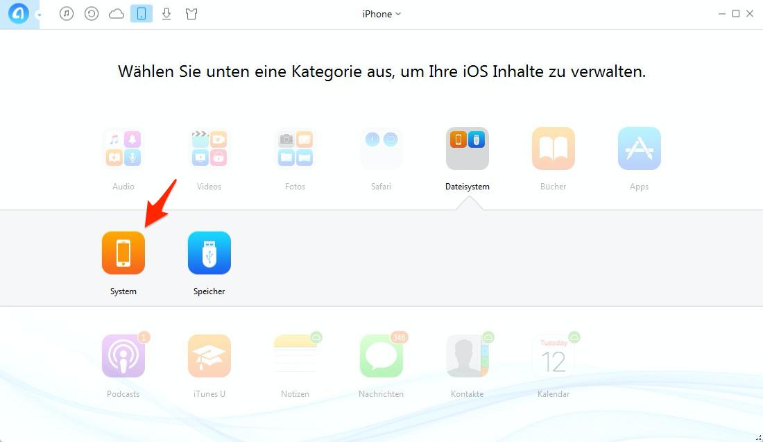 iPhone Musik hellgrau – Schritt 2