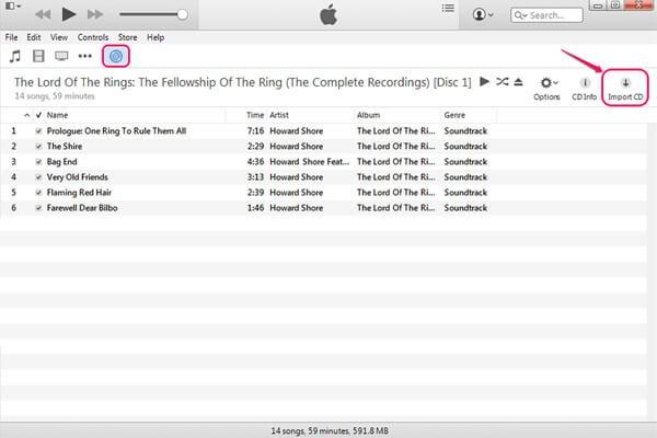 CD in iTunes importieren - Schritt 2