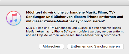 Musik auf iPhone X/8/7 laden mit iTunes