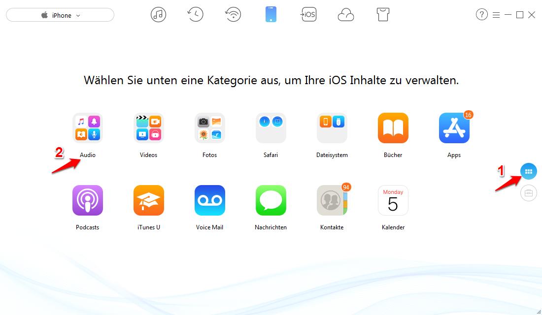 iPhone Klingeltone ohne iTunes erstellen – Schritt 1