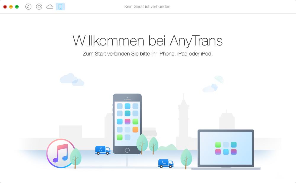 iPhone Musik zu iTunes – Schritt 1