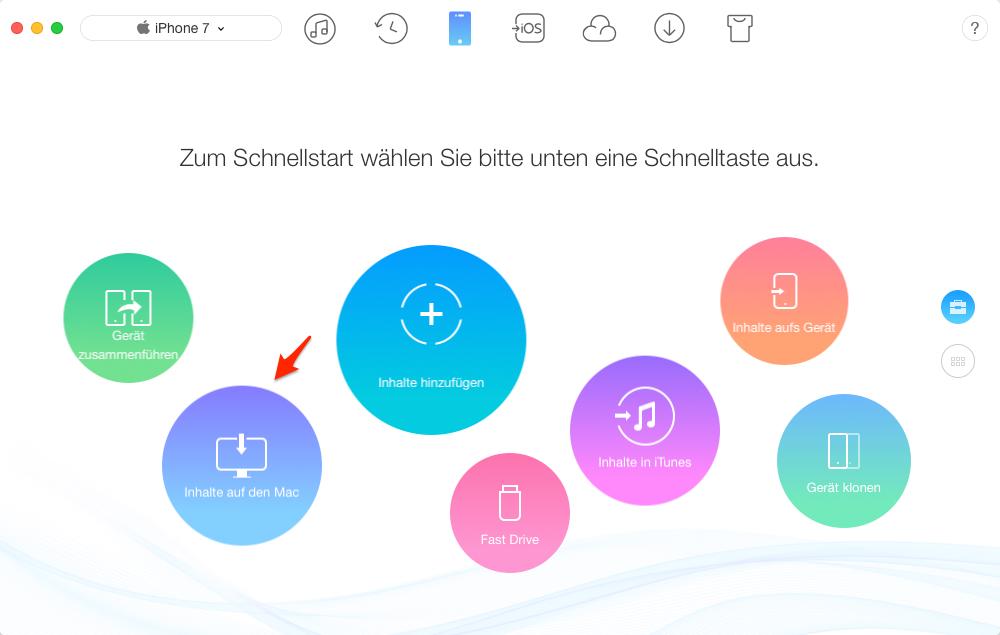 Musik vom iPhone auf Mac übertragen – Schritt 1