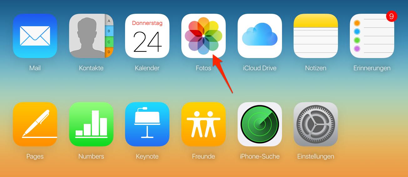 Videos vom iPad auf PC übertragen: mit iCloud