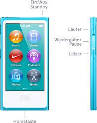 iPod nano 1-5ten Tasten