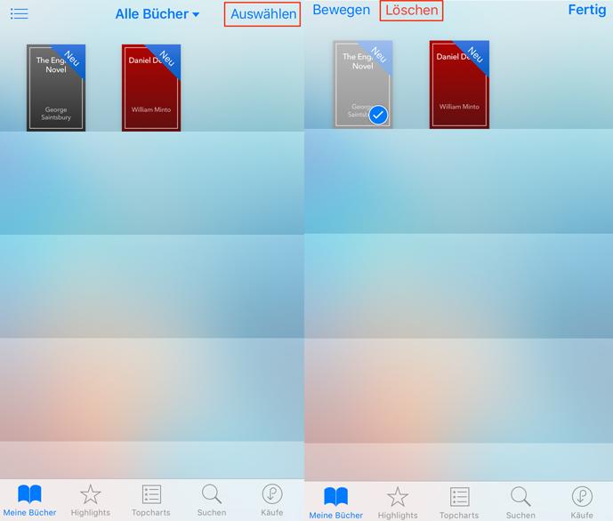 iBooks löschen – in der iBooks-App