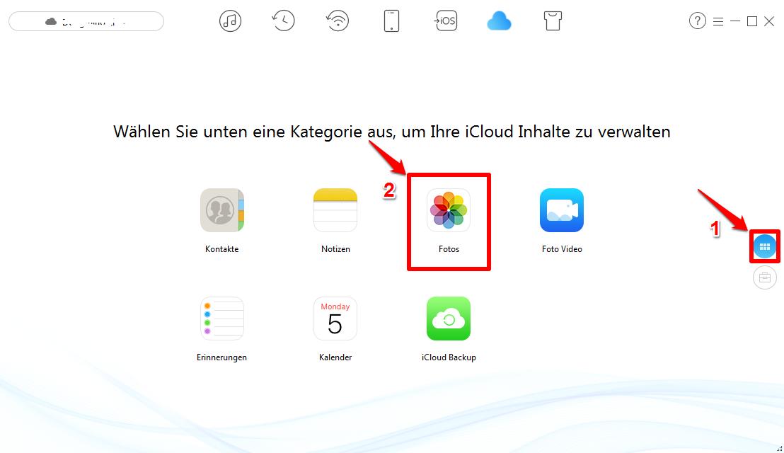 Fotos in iCloud löschen - Schritt 3