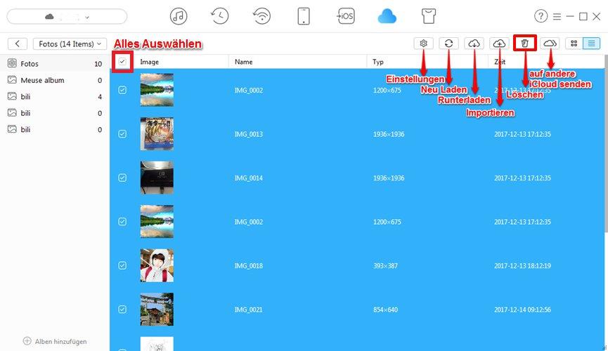 iCloud alle Fotos leinfach öschen - Schritt 4