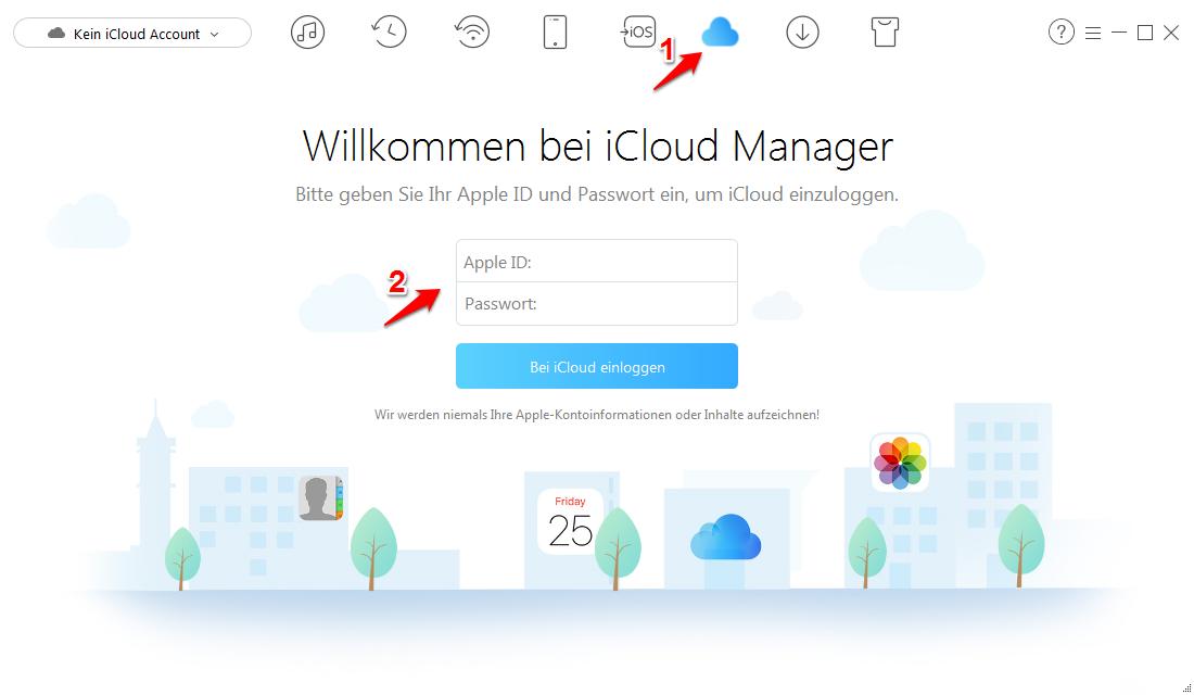 iCloud alle Fotos markieren – Schritt 1